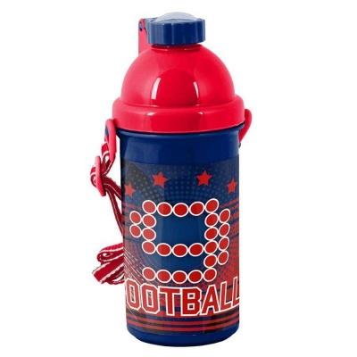 Plastová láhev 500ml červená Fotbal