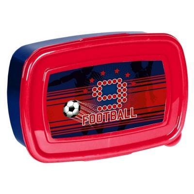 Svačinový box krabička na oběd červený Fotbal