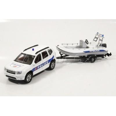 Dacia Duster s člunem Policie model auta Mondo Motors 1:43