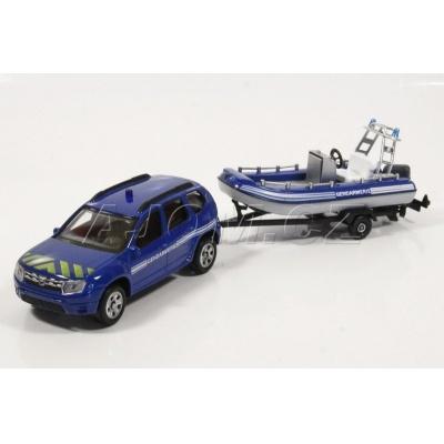 Dacia Duster s člunem Gendarmerie model auta Mondo Motors 1:43