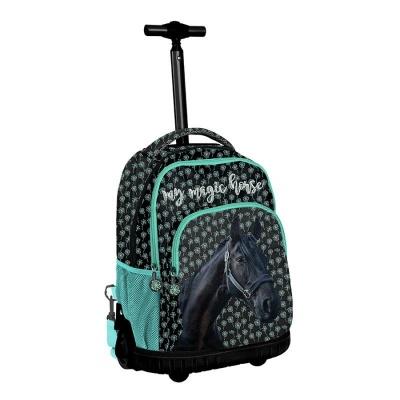 Cestovní batoh na kolečkách s vysouvací rukojetí Kůň Magic