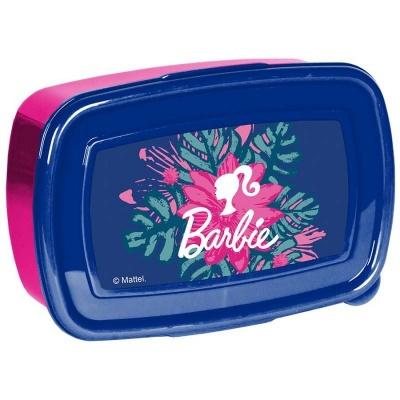 Svačinový box krabička na oběd Barbie květiny
