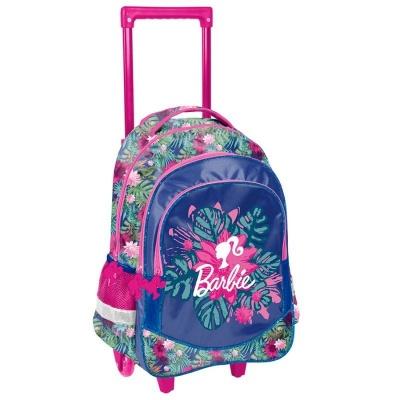 Cestovní batoh na kolečkách s vysouvací rukojetí Barbie květiny