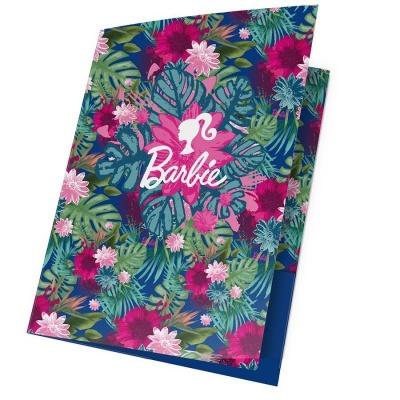 Desky s gumou A4 Barbie květiny