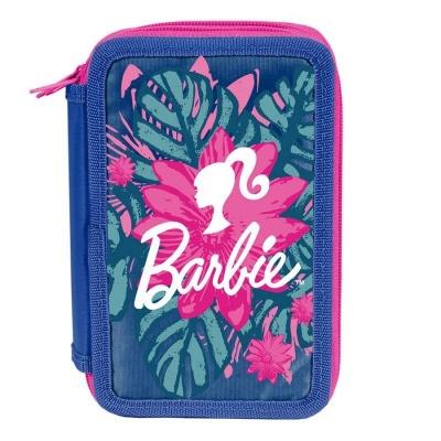 Školní třípatrové pouzdro penál Barbie květiny