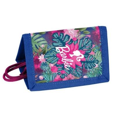 Textilní peněženka Barbie květiny