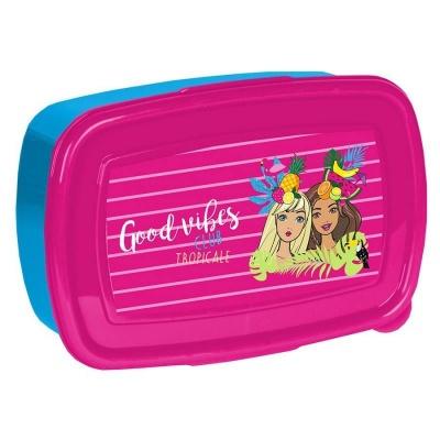 Svačinový box krabička na oběd Barbie Tropical