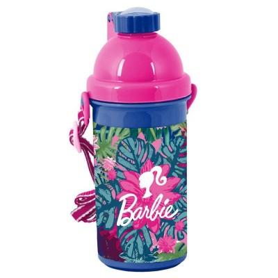 Plastová láhev 500ml Barbie květiny