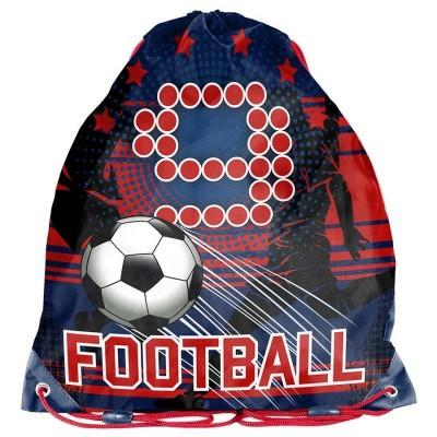 Školní pytel vak sáček červený Fotbal