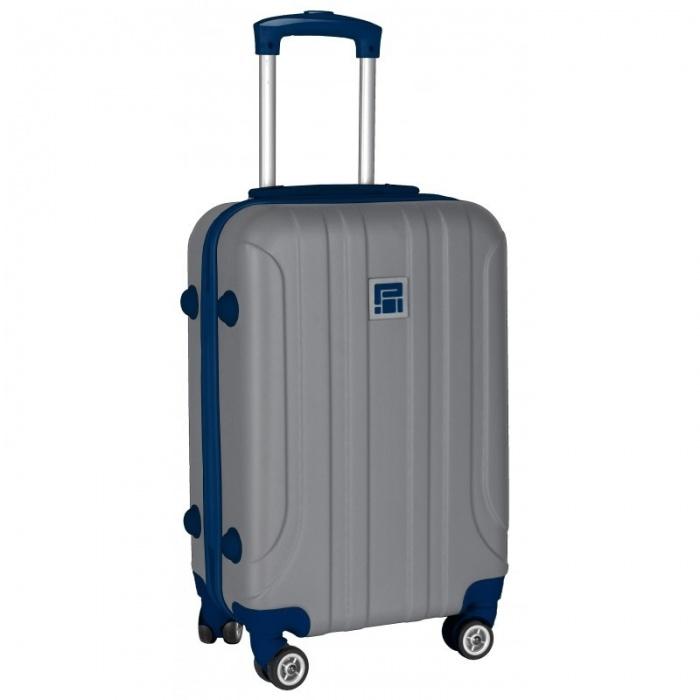 Cestovní kufr ABS šedý střední
