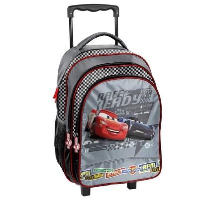 Cestovní batoh na kolečkách s vysouvací rukojetí Cars Auta šedý
