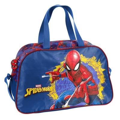Dětská sportovní taška kabela Spiderman modrá