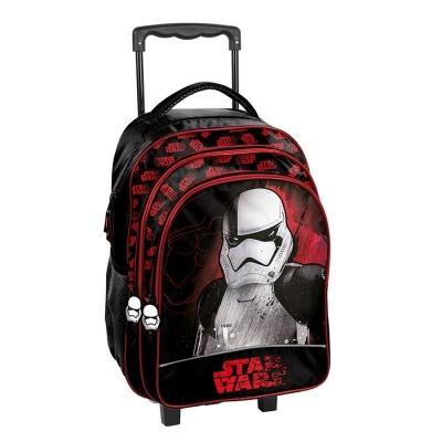 Cestovní batoh na kolečkách s vysouvací rukojetí Star Wars Hvězdné války černý