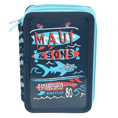 Školní dvoupatrové pouzdro penál Maui and Sons Shark
