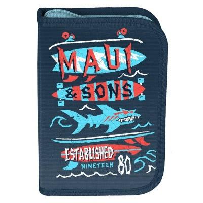 Školní pouzdro penál Maui and Sons Shark - s chlopněmi a vybavením