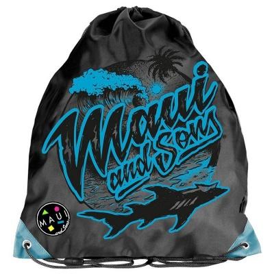 Školní pytel vak sáček Maui and Sons Black Shark