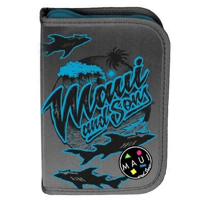 Školní pouzdro penál Maui and Sons Black Shark - s chlopněmi a vybavením