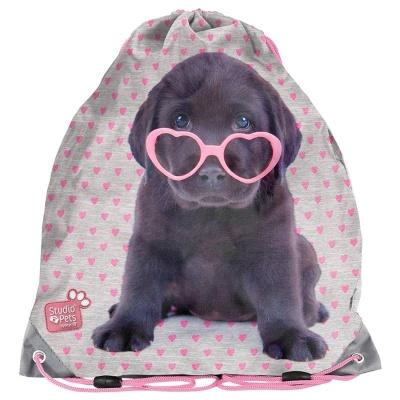 Školní pytel vak sáček Pejsek štěně s brýlemi