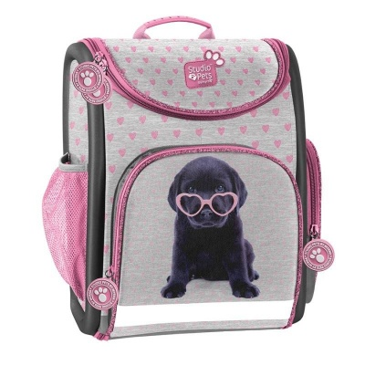 Luxusní školní batoh aktovka Pejsek štěně s brýlemi i pro prvňáčky