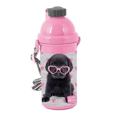 Plastová láhev 500ml Pejsek štěně s brýlemi