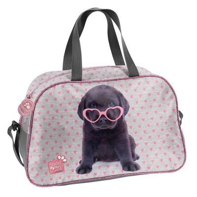 Dětská sportovní taška kabela Pejsek štěně s brýlemi