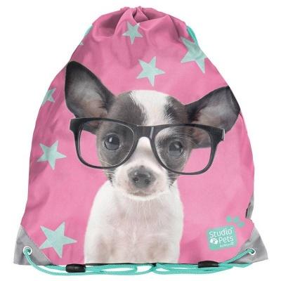Školní pytel vak sáček Pejsek čivava s brýlemi