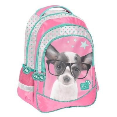 Školní batoh brašna Pejsek čivava s brýlemi