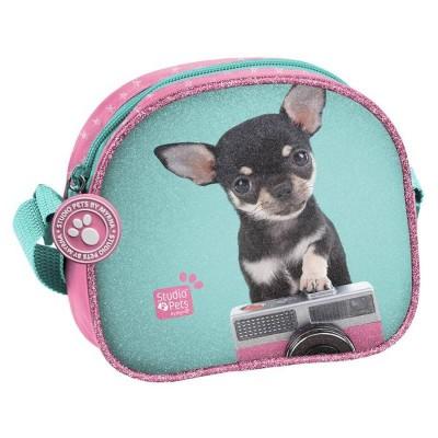 Dívčí kabelka taška přes rameno Pejsek čivava s foťákem