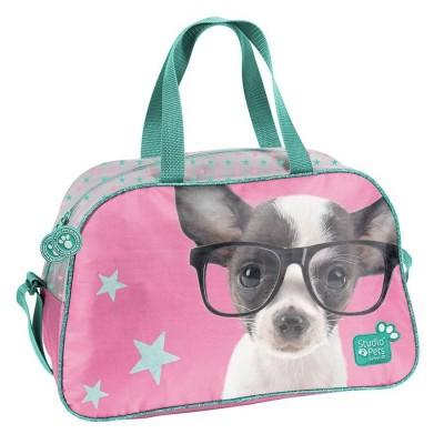 Dětská sportovní taška kabela Pejsek čivava s brýlemi