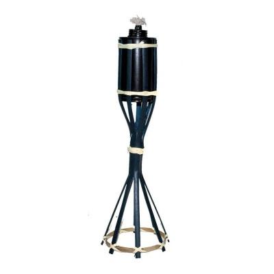 Bambusová louč pochodeň modrá 35cm