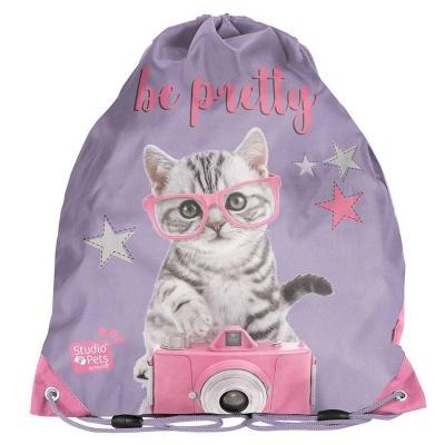Školní pytel vak sáček Kočka s foťákem