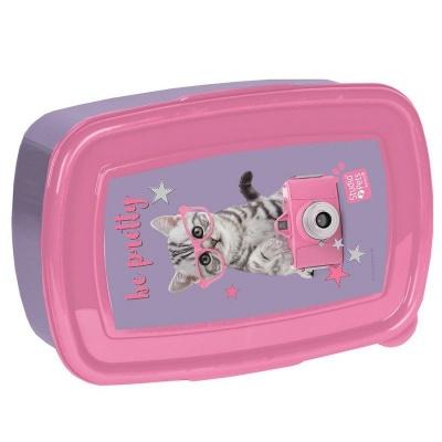 Svačinový box krabička na oběd Kočka s foťákem
