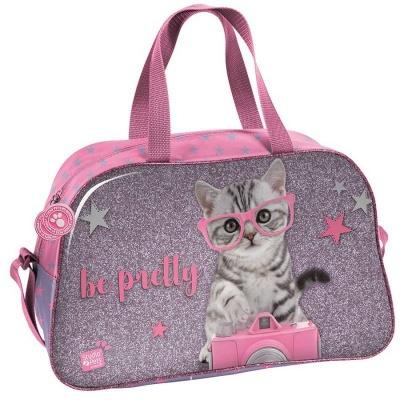 Dětská sportovní taška kabela Kočka s foťákem