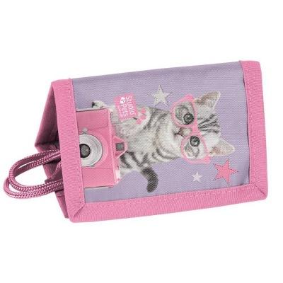 Textilní peněženka Kočka s foťákem