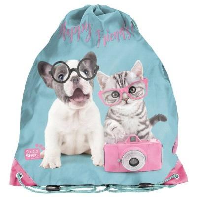 Školní pytel vak sáček Pejsek a kočka s foťákem
