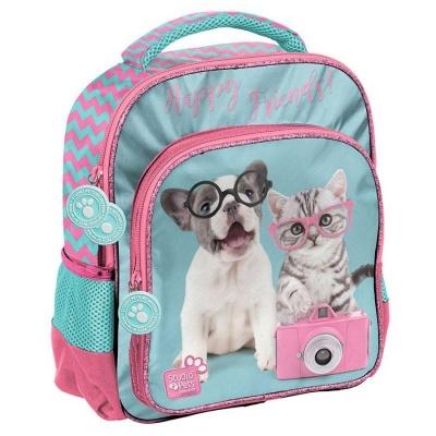 Dětský batoh malý Pejsek a kočka s foťákem