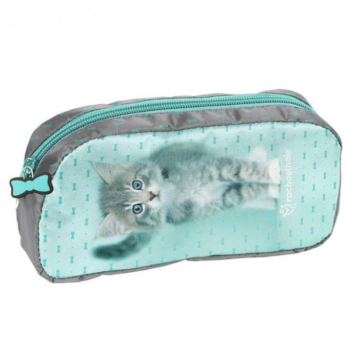 Školní pouzdro taštička Kočka s mašličkami