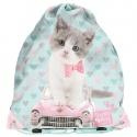 Školní pytel vak sáček Kočka a auto