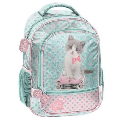 Školní batoh brašna Kočka a auto