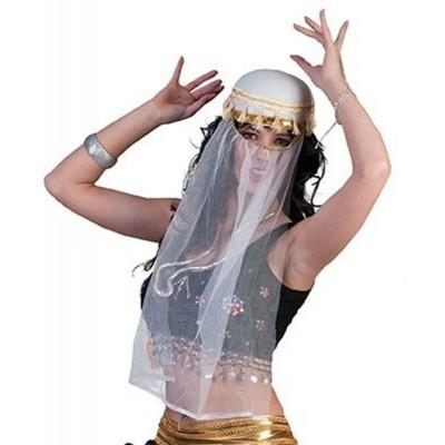 Dámský arabský klobouk se závojem