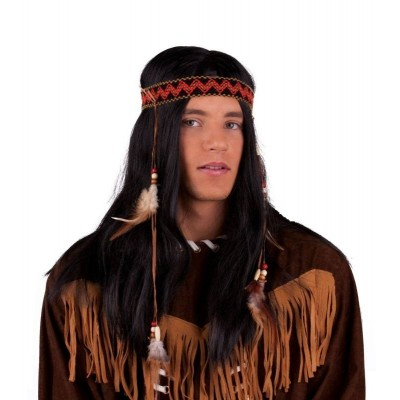 Paruka indián s čelenkou