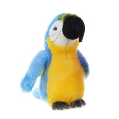 Plyšový Papoušek modrý 23cm
