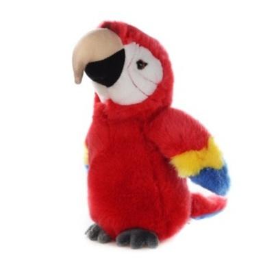 Plyšový Papoušek červený 23cm