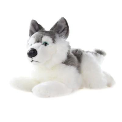Plyšový pes Husky ležící 34cm