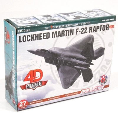 Stavebnice 4D letadlo - Lockheed Martin F-22 Raptor