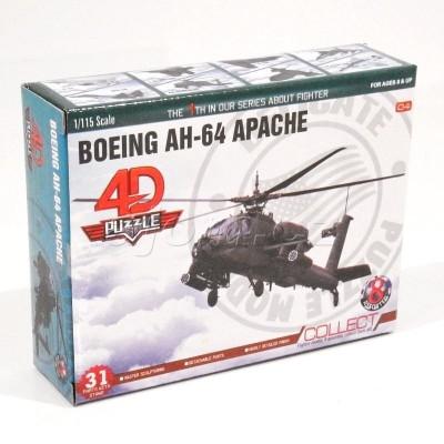 Stavebnice 4D letadlo - Boeing AH-64 Apache