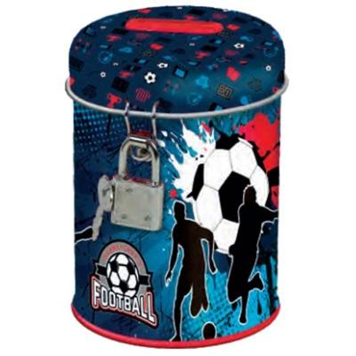 Kovová pokladnička kasička Fotbal