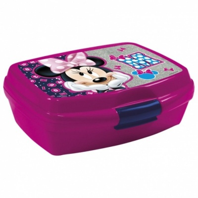 Krabička na svačinu Minnie fialová
