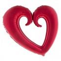 Foliový balónek Srdce velké 109 cm