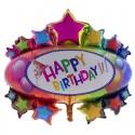 Foliový balónek dekorace Happy Birthday narozeniny 95cm